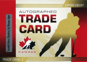 UD Team Canada Trade Card