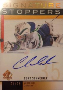 Signature Stoppers Cory Schneider