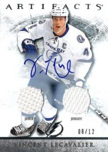 Silver Auto Jersey/Jersey Vincent Lecavalier