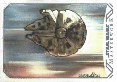 Masterwork Sketch Card Millenium Falcon