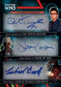 Doctor Who Triple Autograph