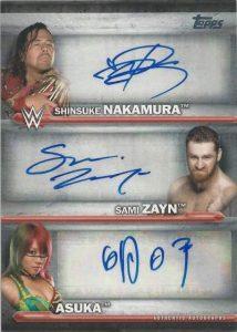 WWE Triple Autographs Shinsuke Nakumura, Sami Zayn, Asuka