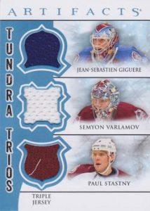 Tundra Trios JS Giguere, Semyon Varlamov, Paul Stastny