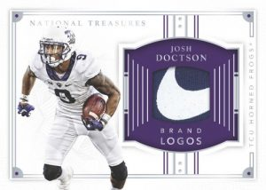 National Treasures Brand Logo Josh Doctson