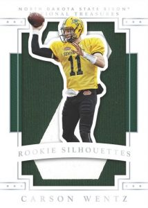 National Treasures Rookie Silhouettes Carson Wentz