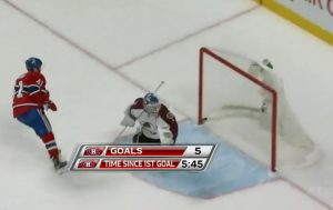 Habs 5th goal vs Avalanche