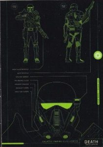 Rogue One Series 1 Blueprints of Ships and Vehicles Death Trooper