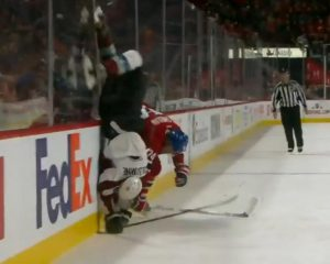 Emelin Hit on Colborne