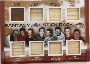Fantasy Stickrack Shore, Kennedy, Richard, Abel. Howe, Lindsay, Stewart, Beliveau