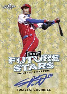 Leaf Metal Draft Baseball Future Stars Autographs Yulieski Gourriel