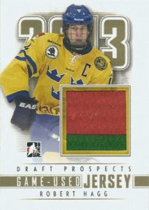 ITG Draft Prospects Game Used Jersey Robert Hagg
