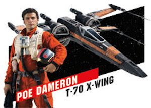 Star Wars High Tek Pilots and Vehicles Poe and X-Wing