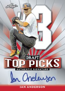 Leaf Metal Draft Baseball Top Picks Autographs Ian Anderson