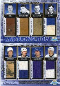 Captain's Row Hap Day / Charlie Conacher / Ted Kennedy / Dave Keon / Darryl Sittler / Wendel Clark / Doug Gilmour / Mats Sundin