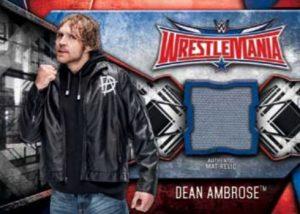 WrestleMania 32 Mat Relics Dean Ambrose