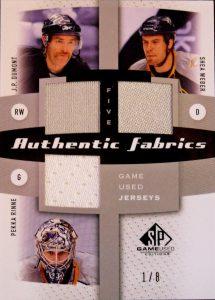 Authentic Fabrics Five Front JP Dumont, Shea Weber, Pekka Rinne