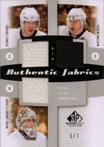 Authentic Fabrics Six Front Sidney Crosby, Marc-Andre Fleury, Evgeni Malkin