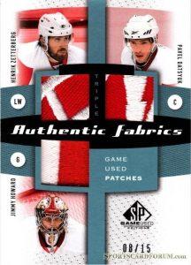 Authentic Fabrics Triples Henrik Zetterberg, Pavel Datsyuk, Jimmy Howard