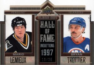 Clear Cut Hall of Fame Mario Lemieux, Bryan Trottier