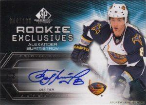 Rookie Exclusives Autographs Alexander Burmistrov