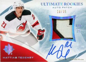 Rookie Patch Auto Mattias Tedenby