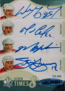 Sign of the Times Eights Back Wayne Gretzky, Mario Lemieux, Mark Messier, Steve Yzerman