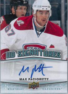 UD Signatures Max Pacioretty