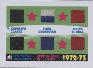 72-73 Second All-Star Team Tony Esposito, Brad Park, Bill White, Bobby Clarke, Yvan Cournoyer, Denis Hull
