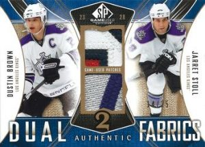 Authentic Fabrics Dual Patches Jarret Stoll, Dustin Brown
