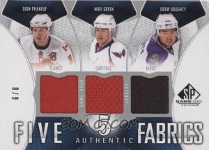 Authentic Fabrics Fives Front Dion Phaneuf, Mike Green, Drew Doughty