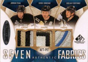 Authentic Fabrics Patches Sevens Back Jordan Staal, Sergei Gonchar, Ruslan Fedotenko