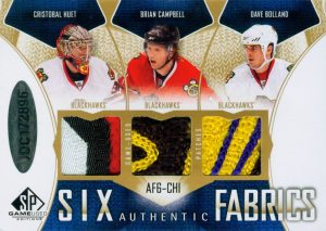 Authentic Fabrics Sixes Patches Back Cristobal Huet, Brian Campbell, Dave Bolland