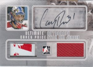 Auto, Stick, And Jersey Carey Price