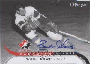 Canadian Heroes Autographs Gordie Howe