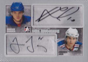 Dual Autographs Marian Gaborik, Jaromir Jagr