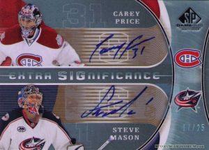Extra SIGnificance Carey Price, Steve Mason