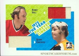 Forever Linked Jerseys Bobby Hull, Gerry Cheevers
