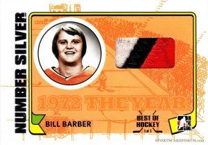 Game-Used Number Bill Barber