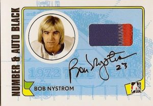 Game-Used Number and Auto Bob Nystrom