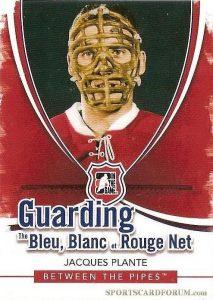 Guarding the Bleu, Blanc et Rouge Net Jacques Plante