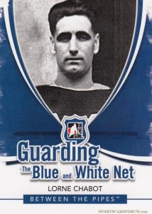 Guarding the Blue and White Net Lorne Chabot