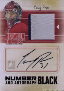 Number and Autograph Black Carey Price
