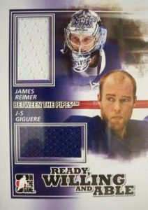 Ready, Willing and Able Black James Reimer, JG Giguere