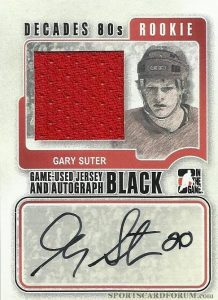 Rookie Jersey and Auto Gary Suter