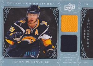 Treasured Swatches Jersey-Patch Blue Jason Pominville
