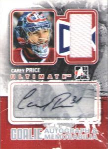 Ultimate Goalie Auto and Mem Carey Price