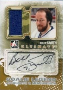 Ultimate Goalie Legend Auto and Mem Billy Smith