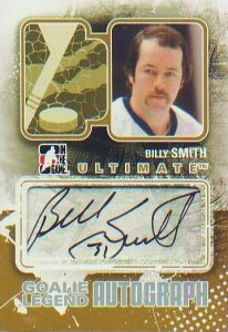 Ultimate Goalie Legends Autograph Billy Smith