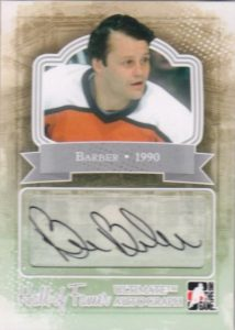 Ultimate Hall of Famer Autograph Bill Barber