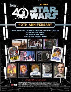 2017 Star Wars 40th Anniversary Sell Sheet